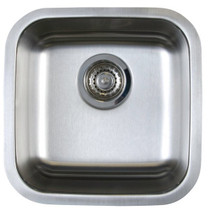 Blanco 401029 Stellar U 1 Bowl Undermount Bar Sink Stainless Steel