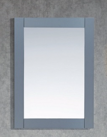 "Royal Wall Framed Mirror 36"" Ice Grey"
