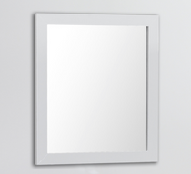"Royal Wall Framed Mirror 18"" White"