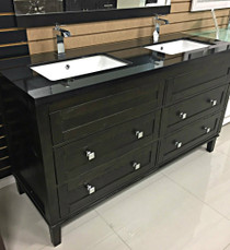 "Uxbridge 60"" Bathroom Vanity Double Sinks"