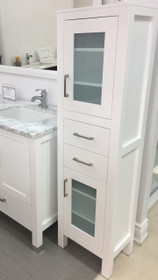 "Armada 60"" Side Linen Cabinet Tower White"