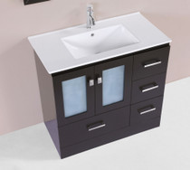"Hamilton 30"" Espresso Single Modern Bathroom Vanity LH SINK"
