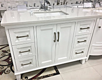 "Milano 48"" Bathroom Vanity White"