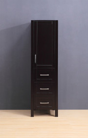 "Armada Side Column Linen Tower Espresso 68"" H x 19 x 22"" D"