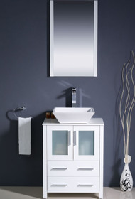 "Vaughn 28"" Bathroom Vanity White"