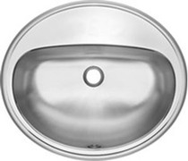 Kindred OV1821/6/1 Commercial 1 Hole Drop-In Stainless Steel Vanity Bathroom Sink