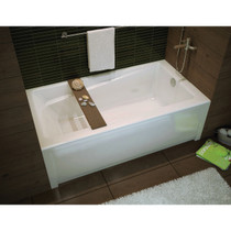 Maax Bath Exhibit 6030 IFS AFR with Professional Material Acrylic Whirlpool Bathtub, White
