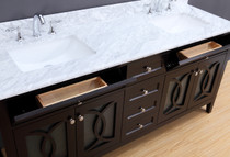 "Casa 72"" Double Sink Bathroom Vanity Espresso"