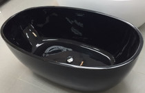 "Kingston 59"" Freestanding Bath Tub Black"