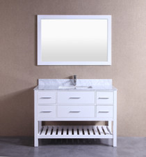 "Dezini 60"" Bathroom Vanity White"