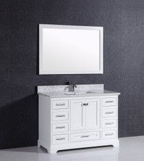 "Bayview 48"" Bathroom Vanity White"