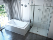 "Mirolin Chaise 66"" Drop-In Bath"