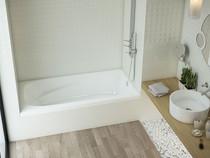 """Mirolin Gryphon 3 Alcove Bath Tub  72"""" x 34"""" x 20"""" RH"""