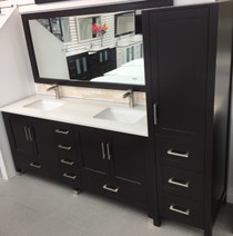 "Armada 90"" Bathroom Vanity & Side Cabinet Tower Espresso"