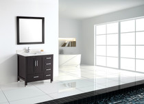 "Armada 40"" Bathroom Vanity Espresso Right Hand Sink"