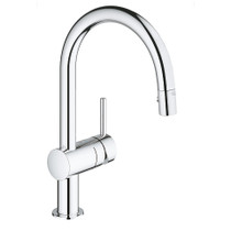Grohe Minta Single-Handle Kitchen Faucet Dual Spray Pull-Down Chrome
