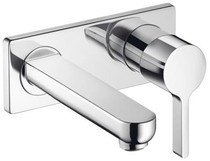 Hansgrohe Metris S Wall-Mounted Single-Handle Faucet Trim Chrome Finish
