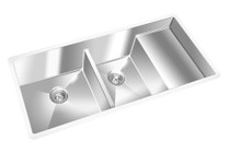 "GEM DOUBLE KITCHEN SQUARE SINK UNDERMOUNT 42 ¾"" x 19"""