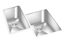 "GEM DOUBLE KITCHEN CORNER SINK UNDERMOUNT 27¾"" x 23"""