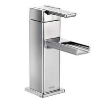 Moen 90 Degree One-Handle Open Waterway Bathroom Faucet Chrome Finish