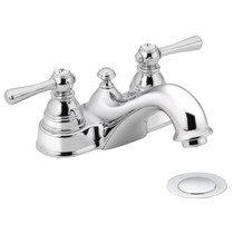 Moen Kingsley Two-Handle Low Arc Bathroom Faucet Chrome Finish