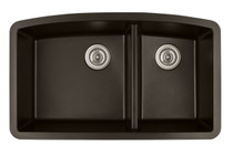 "Karran Double Bowl Undermount Kitchen Sink Brown Finish 32-1/2"" x 19-1/2"""