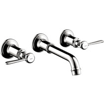 Hansgrohe Axor Montreux Wall-Mounted Widespread Faucet Trim with Lever Handles
