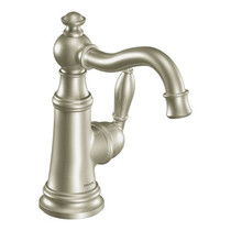 Moen Weymouth One-Handle High Arc Bathroom Faucet Brushed Nickel Finish