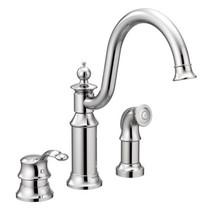 Moen Waterhill One-Handle High Arc Kitchen Faucet Chrome Finish