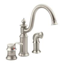 Moen Waterhill One-Handle High Arc Kitchen Faucet Spot Resist Stainless Finish