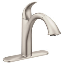 Moen Camerist One-Handle Low Arc Pullout Kitchen Faucet Spot Resist Stainless Finish