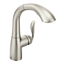Moen Arbor One-Handle High Arc Pullout Kitchen Faucet Spot Resist Stainless Finish