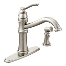 Moen Belfield One-Handle High Arc Kitchen Faucet Spot Resist Stainless Finish
