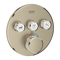 Grohe Grohtherm SmartControl Triple Function Thermostatic Trim with Control Module Brushed Nickel Finish