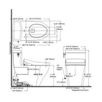 TOTO MW6263056CEFG Aimes WASHLET S550e One Piece Toilet Cotton