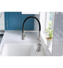 Blanco Empressa Single Handle Deck Mounted Semi-Professional Kitchen Faucet with Pull-Down Dual Spray in Chrome