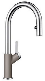 BLANCO URBENA Kitchen Faucet in Chrome / Truffle