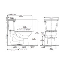 "American Standard 215BB104 Cadet Pro Right Height Round Front Toilet 10"" - White"