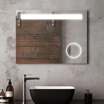 "Kalia Emblem Illuminated LED Mirror 32"" x 24"""