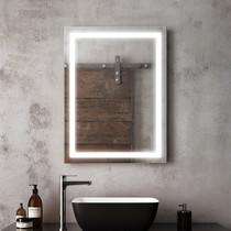 "Kalia Effect Rectangle Illuminated LED Mirror 24"" x 32"""