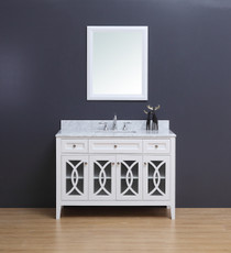 "Casa 48"" White Single Sink Bathroom Vanity"