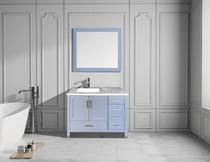 "Armada 40"" Left Hand Bathroom Vanity Ice Grey"