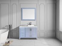 "Armada 40"" Right Hand Bathroom Vanity Ice Grey"