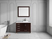 """Armada 40"""" Right Hand Bathroom Vanity Espresso"""