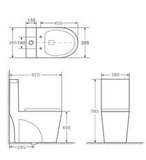 Crown Max Dual Tornado Flush Toilet One Pc