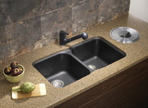 "Blanco Vision U 2 Bowl Undermount Silgranit Sink 30.5 "" W x 17.5"" D"