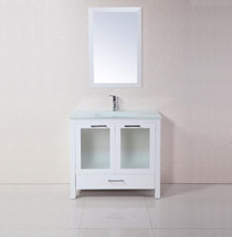 "Madrid 34"" Bathroom Vanity White"