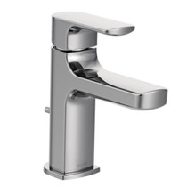 Moen Rizon Chrome One-Handle Low Arc Bathroom Faucet Chrome Finish