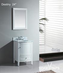 "Destiny 24"" Bathroom Vanity White **DISPLAY MODEL**"