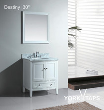 "Destiny 30"" Bathroom Vanity White"